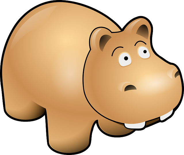 , animals, baby, cartoon, mammals, funny, cute, hippo