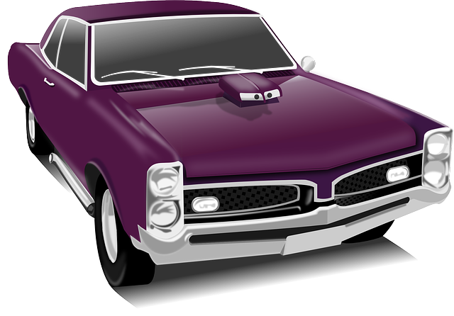 , classic car, car, vintage, purple, transportation