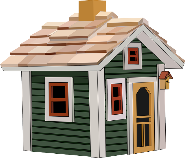 , cottage, house, home, building, little, window, roof