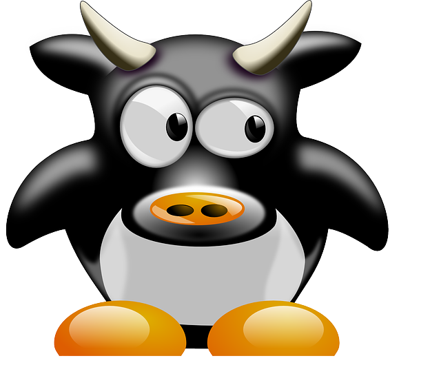 , cow, animal, mammal, cute, tux, cartoon, penguin
