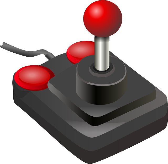, joystick, red, computer, black, hardware, toy