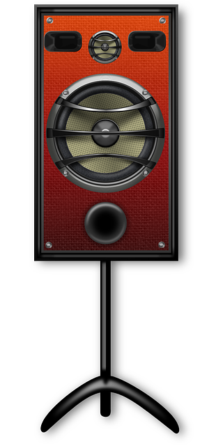 , loudspeaker, sound, music, orange, audio, electronics