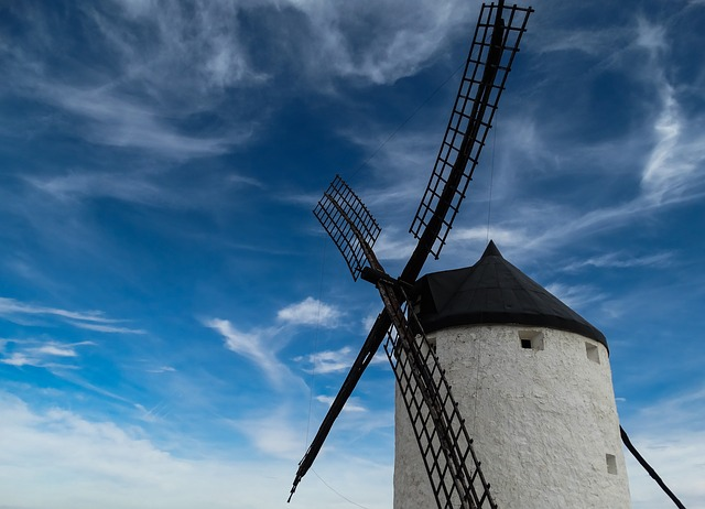, mill, windmill, wind, sky, renewable energy, landscape