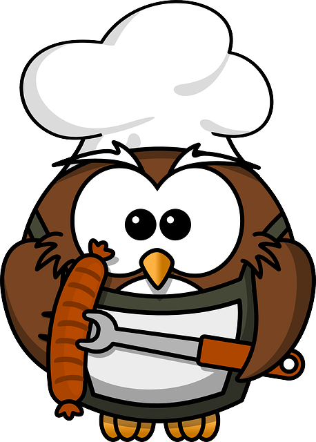 , owl, animal, barbecue, bird, cook, funny, grill