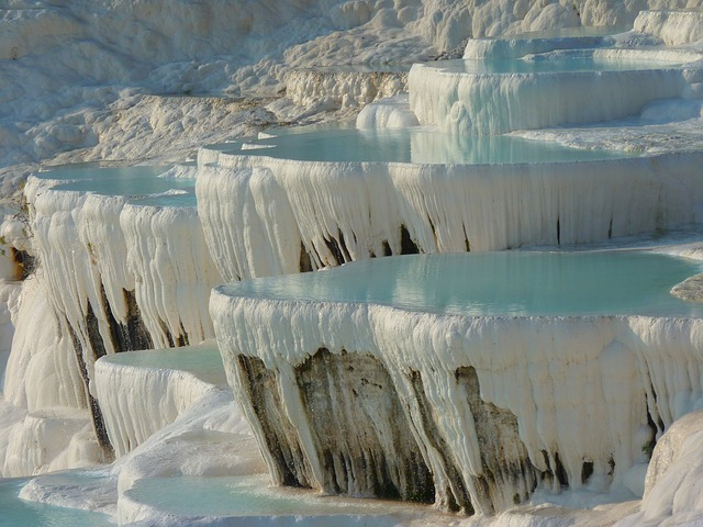 , pamukkale, lime sinter terrace, calcium, speleothems