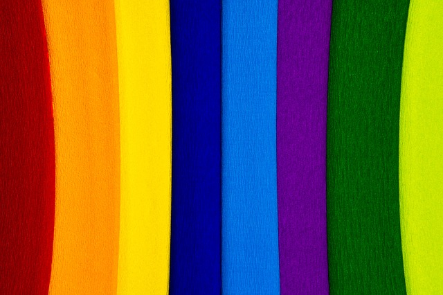 , paper, crepe, crepe paper, colorful, color, school