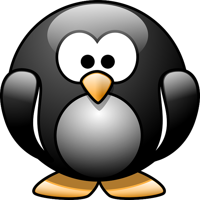 , penguin, animal, eyes, black, happy, face, cartoon