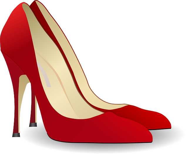 , pumps, high heeled shoe, stack-heel shoe, stilettos