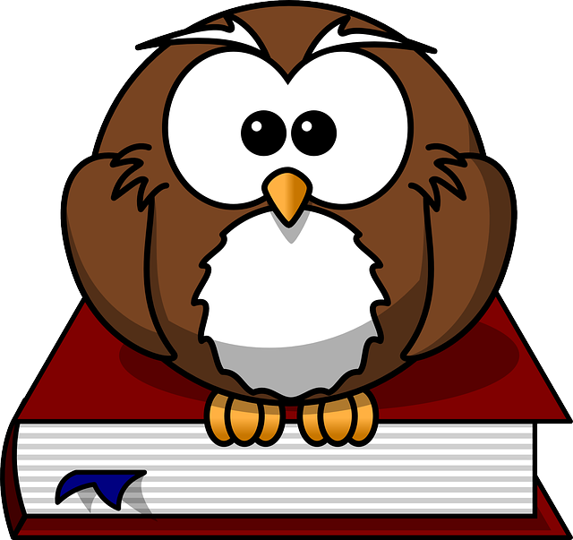 , simple, circle, cartoon, bird, owl, book, wings