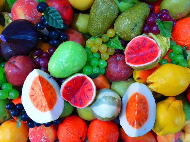 , soap, colorful, color, fruit, knallbunt, melon, peach