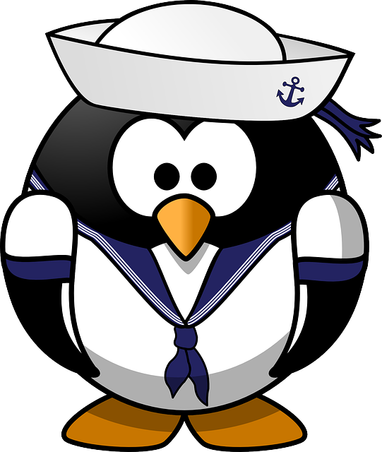 , tux, anchor, animal, bird, boat, ferry, hat, mariner