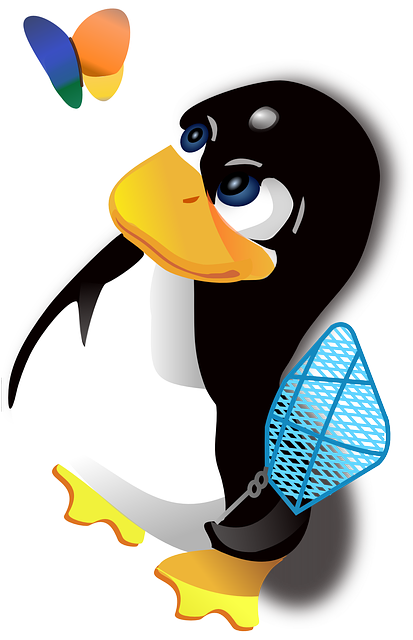 , tux, penguin, flat, icon, cartoon, butterfly, killer