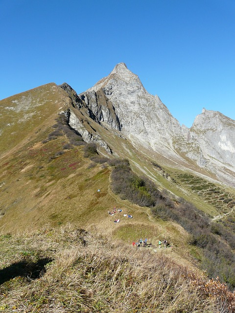 aelpelesattel, höfats, east summit, mountains, summit
