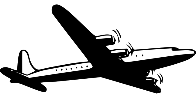 airliner, propeller, silhouette, airplane, aircraft