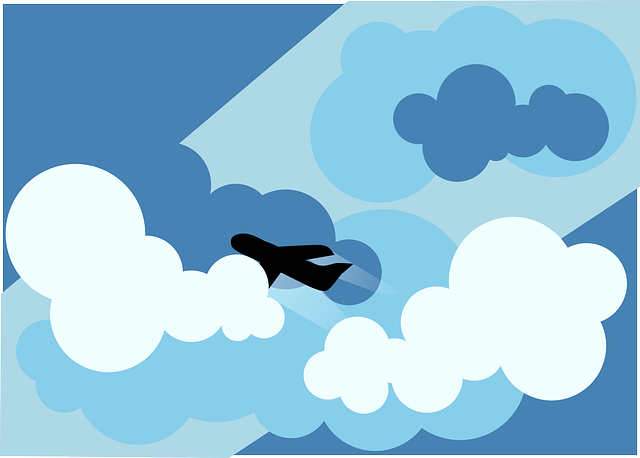 airplane, flying, aircraft, blue, clouds, plane