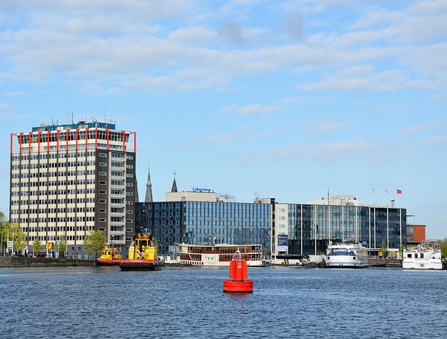 amsterdam, city, holland, river ij, center, water