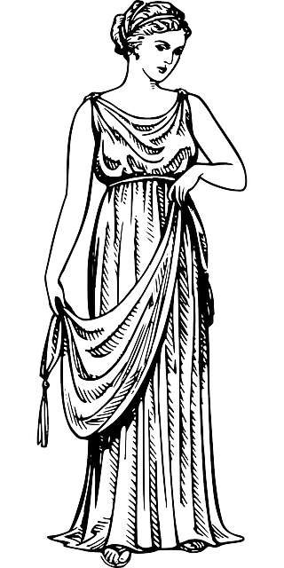 ancient, greek, clothing, dress, robe, woman