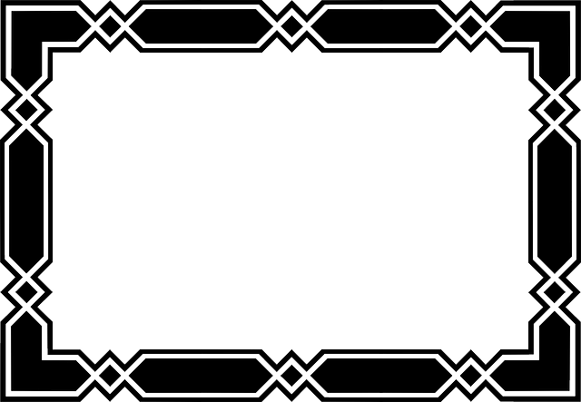 angular, black, border, frame, geometric, plain, simple