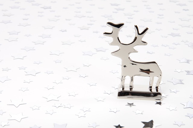 animal, background, christmas, decoration, deer, light