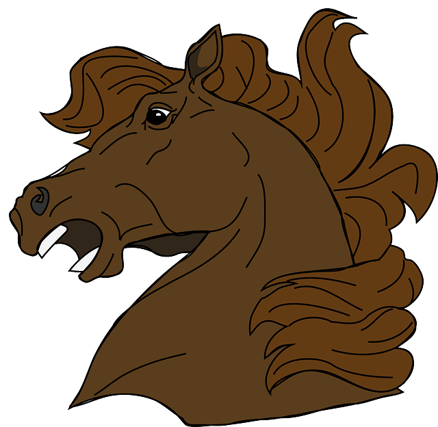 animals, mad, angry, cartoon, horse, mammals, horses