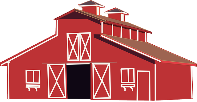 animals, red, house, home, barn, farm, animal