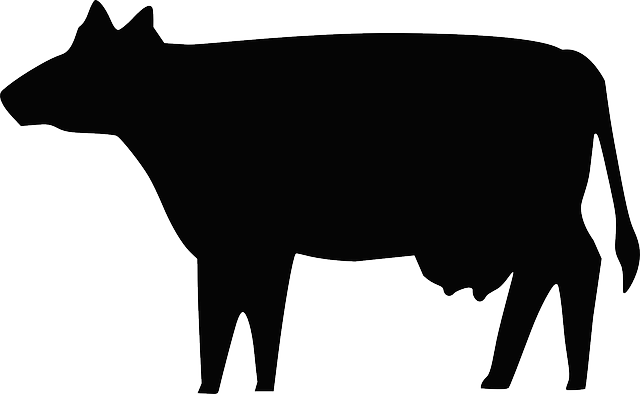 animals, silhouette, cartoon, farm, cow, milk, beef