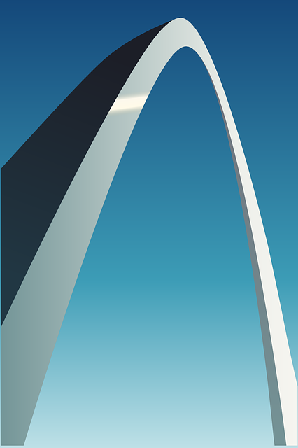 arch, architecture, stainless, steel, metal