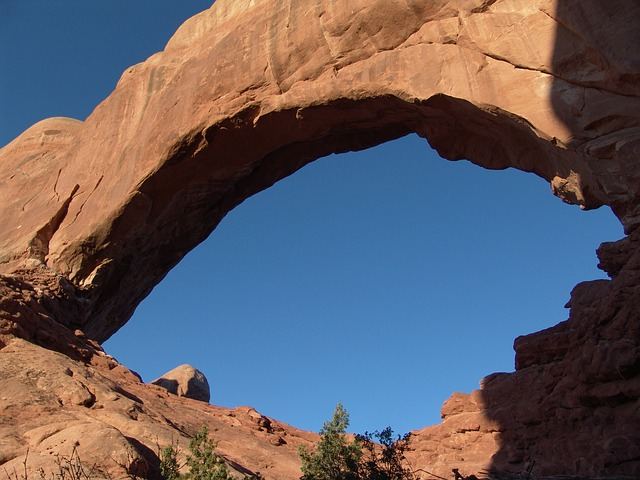 arch, north window, arches national park, stone arch