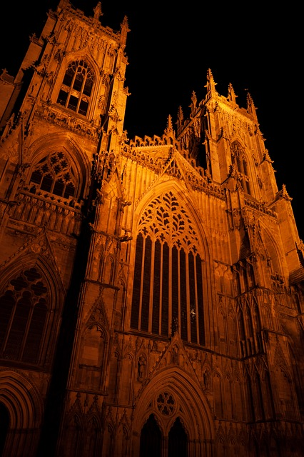 architecture, night, building, cathedral, dark, church