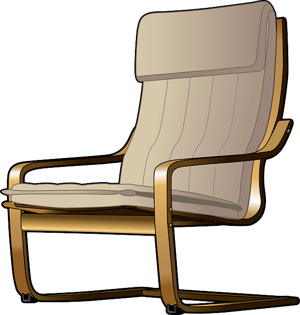 armchair, cantilever, chair, furniture
