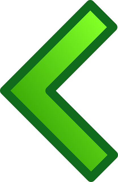 arrow, green, glossy, left, previous, rewind, west