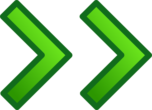 arrow, green, glossy, right, forward, next