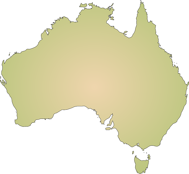 australia, continent, geography, map, coastline