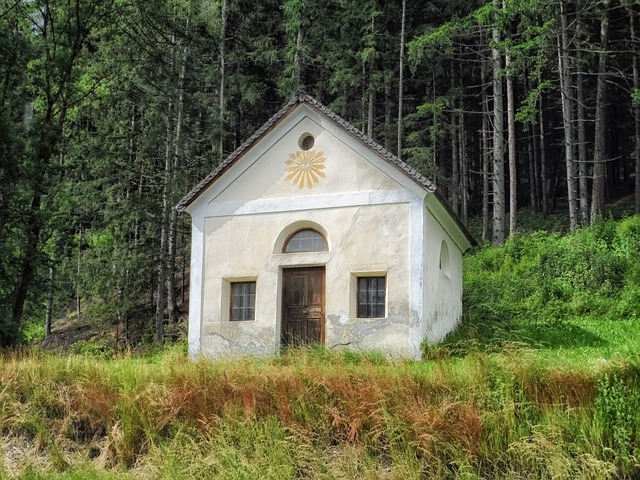 austria, chapel, church, faith, religion, forest, woods