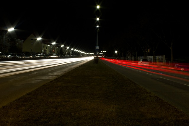 auto, road, long exposure, downtown, city, city life