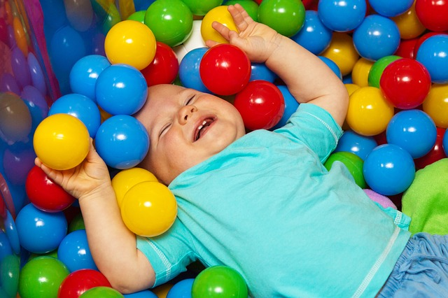 baby, ball, balls, cheerful, child, color, colorful