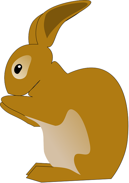 baby, brown, jack, cartoon, farm, bunny, stand, cute