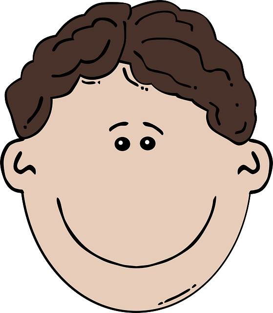 baby, head, eyes, black, brown, two, outline, drawing