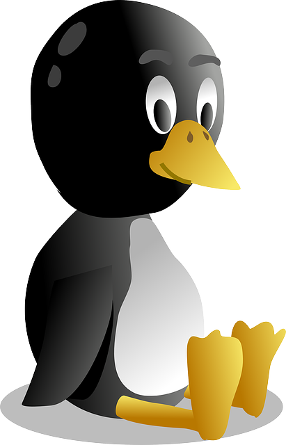 baby, tux, computer, icon, cartoon, bird, desktop