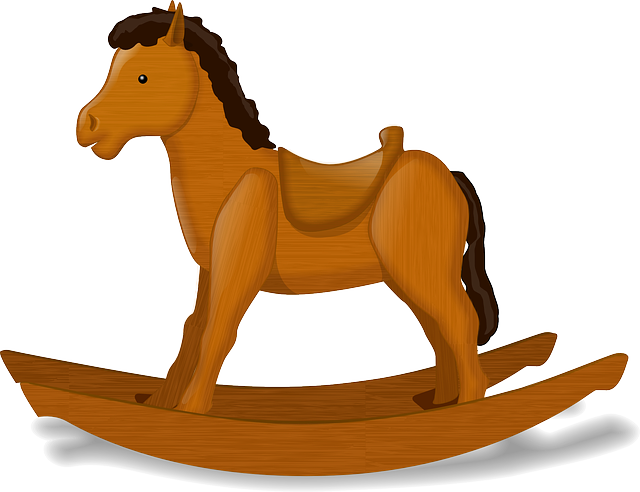 baby, wooden, cartoon, horse, free, toys, toy, wood