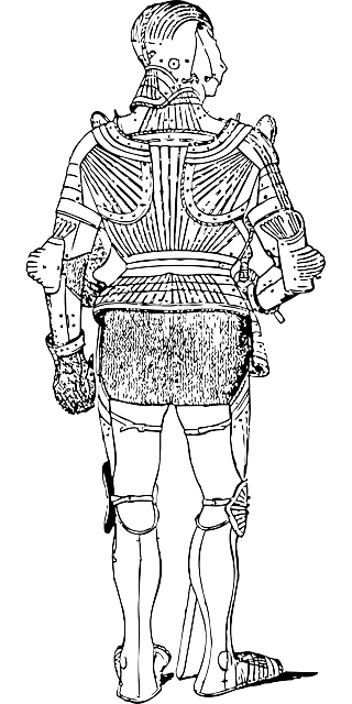 back, outline, clothing, automatic, suit, medieval