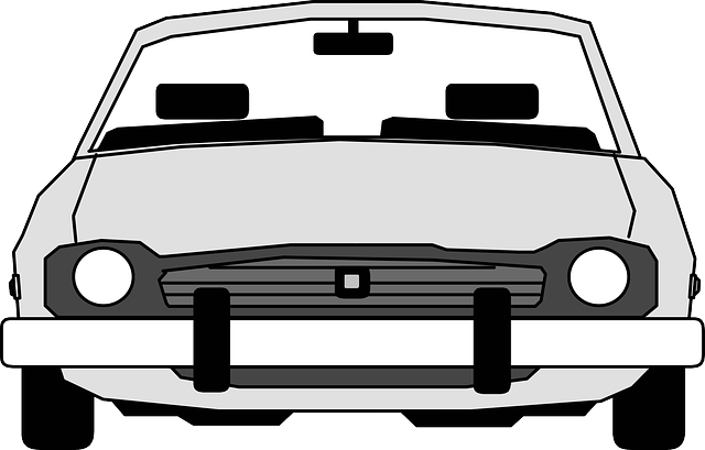 back, view, outline, drawing, sketch, silhouette, car