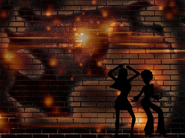 background, wall, women, dancing, happy, red, fire