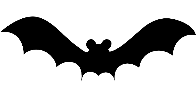 bat, simple, silhouette, art, halloween, decoration