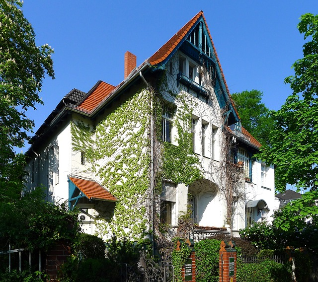 berlin, germany, house, home, architecture, sky, trees
