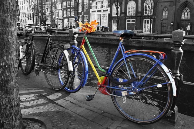 bicycle, bike, cycle, metal, outside, pedal, colorful