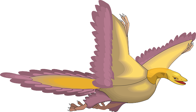 bird, flying, wings, ancient, archaeopteryx, feathers