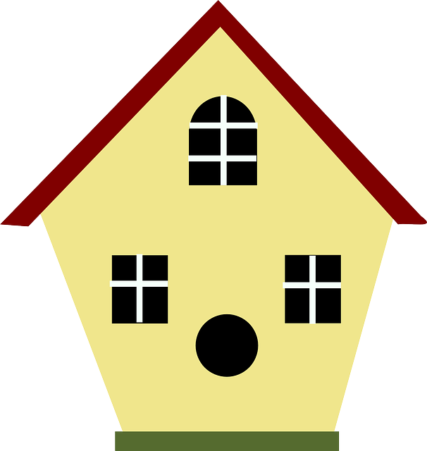 birdhouse, aviary, volery, house, home, yellow, bird