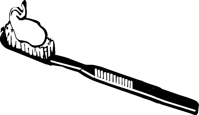 black, brush, white, cartoon, health, toothbrush
