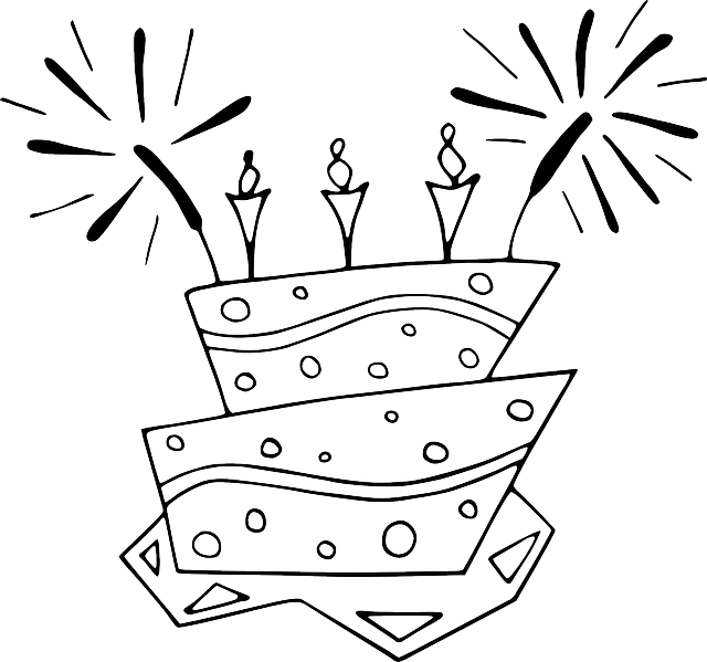 black, flat, food, cake, outline, white, cartoon, free